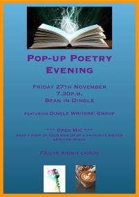 Pop-up Poetry Poster w: Irish copy